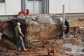 Демонтаж бетонного фундамента