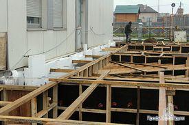 Заливка фундамента под каркас офисной части здания
