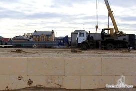 Подготовка к монтажу металлоконструкций складской части комплекса
