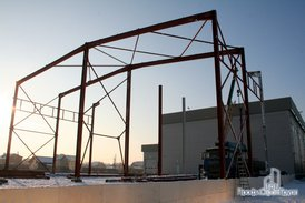 Монтаж металлоконструкций складской части комплекса складской части комплекса