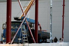 Монтаж металлоконструкций складской части комплекса