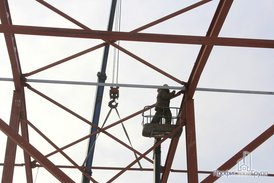 Завершение монтажа  металлоконструкций складской части комплекса складской части комплекса