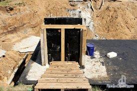 Работы по строительству пожарного резервуара