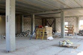 Строительные работы на офисной части комплекса