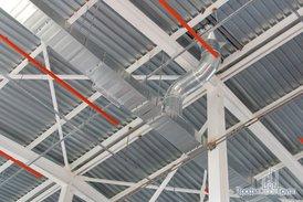 Системы вентиляции и пожаротушения склада