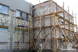 Подготовка к монтажу вентилируемого фасада керамогранитными плитами