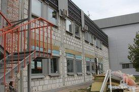 Замена фасада на офисном здании комплекса