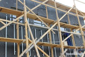 Монтаж фасада офисного здания комплекса