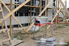 Керамическая плитка вентилируемого фасада офиса