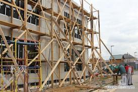 Офисное здание. Монтаж вентилируемого фасада.