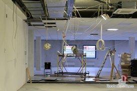 Подвесной потолок, наливной пол офиса