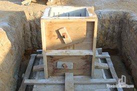 Опалубка под заливку фундамента
